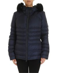 Peuterey Bell Blue Down Jacket With Fur