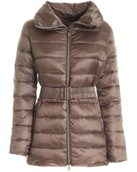 Save The Duck Quilted Puffer Jacket - Brown