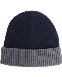 Altea - Blue Ribbed Cap - Lyst