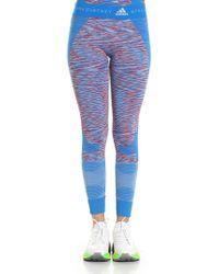 adb77f7ce3 adidas By Stella McCartney - Light-blue Dye Seamless Space Yoga leggings -  Lyst