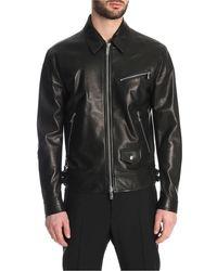 Valentino Nightwolf Leather Jacket - Black