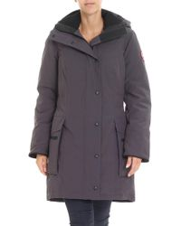 Canada Goose - Anthracite Kinley Down Parka Jacket With Logo - Lyst