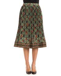 Stella Jean - Pleated Skirt - Lyst