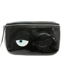 Chiara Ferragni Flirting Waist Bag In Black