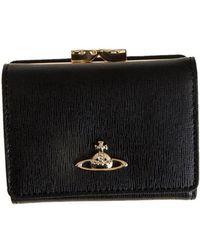 Vivienne Westwood - Saffian Effect Leather Wallet - Lyst