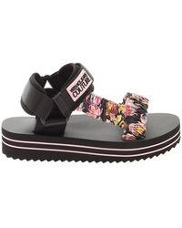 Versace Jeans Couture Printed Neoprene Sandals - Black