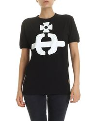Vivienne Westwood Anglomania Orb Crew Neck T-shirt - Black