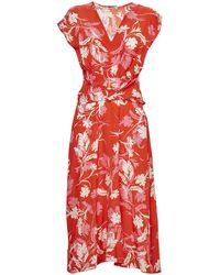 P.A.R.O.S.H. Saba Floral Print Dress - Red
