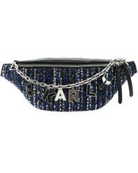 Karl Lagerfeld K Studio Leather & Tweed Belt Bag - Black