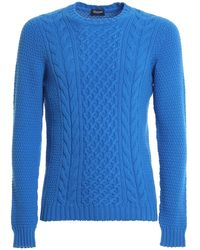 Drumohr Cable-knit Sweater - Blue