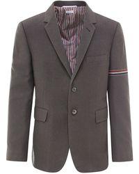 Thom Browne Single-breasted Blazer - Grey
