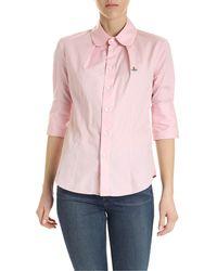 Vivienne Westwood Round Collar Shirt - Pink