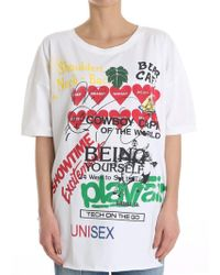 Vivienne Westwood Anglomania - White Baggy T-shirt - Lyst