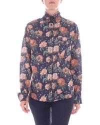 Vivienne Westwood Blue Floral Printed Shirt