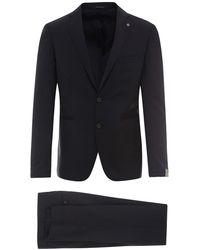 Tagliatore Virgin Wool Suit - Blue