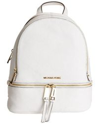 Michael Kors Rhea Medium Backpack - White