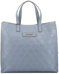 Twin Set Faux Leather Tote Bag - Blue
