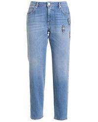 Ermanno Scervino Rhinestone Detailed Jeans - Blue