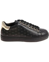 Twin Set - Black Sneakers With Mini Golden Inserts - Lyst
