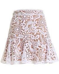 Michael Kors Lace Short Skirt - White