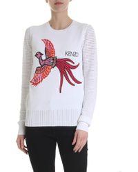 KENZO Flying Phoenix Pullover - White