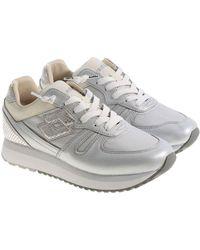 Lotto Leggenda - Silver Tokyo Wedge Sneakers - Lyst