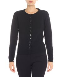 Jucca - Black Cardigan With Jeweled Buttons - Lyst