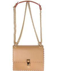 bc134d87f5 Lyst - Fendi Black Studded Leather  3 Baguette  Chain Shoulder Bag ...