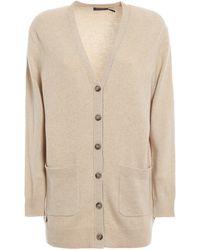 Polo Ralph Lauren Wool Blend Cardigan - Natural