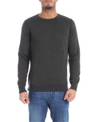 Jurta - Reversible Green And Blue Crew-neck Pullover - Lyst