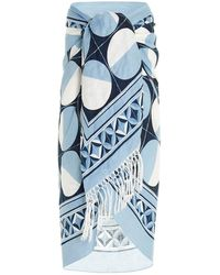 Dolce & Gabbana Majolica Print Beach Towel - Blue