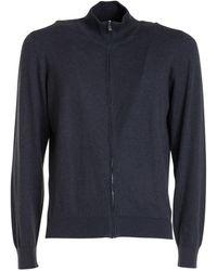 Corneliani Cotton-cashmere Blend Cardigan - Grey