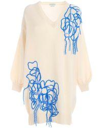 Ballantyne Bluette Embroidery Knitted Dress