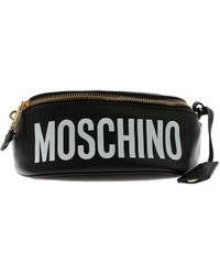 Moschino Print Black Belt Bag