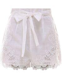 Zimmermann Lulu Shorts - White