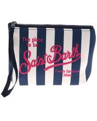 Mc2 Saint Barth Aline Striped Bag - Blue