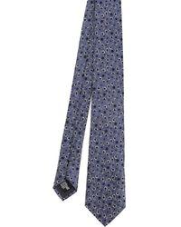 Emporio Armani Paisley And Polka Dot Patterned Tie - Gray
