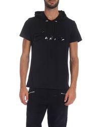 Balmain T-shirt con cappuccio nera - Nero