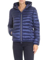 Save The Duck - Blue Waisted Padded Jacket - Lyst