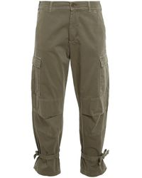 Twin Set Cotton Blend Cargo Trousers - Green