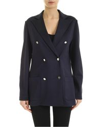 Fay Double-breasted Jacket - Blue