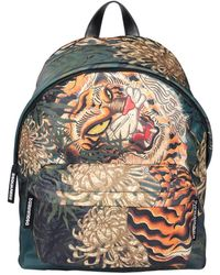 DSquared² Tiger Backpack In Canvas With All-over Multicolor Print And Front Pocket Closed By Hidden Zip.