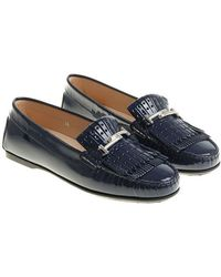 baf256e5a80 Lyst - Tod S 20mm Città Brushed Leather Loafers in Blue