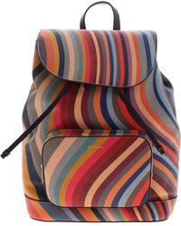 Paul Smith Logo Detail Backpack - Multicolour