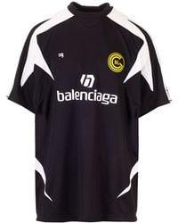 Balenciaga Soccer T-shirt - Black