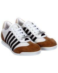 DSquared² - White And Brown New Runner Sneakers - Lyst