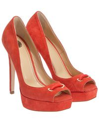 Elisabetta Franchi - Suede Court Shoes - Lyst