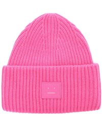 Acne Studios Pansy N Face Beanie - Pink