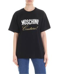 daff18ba5a Moschino Graphic Print Oversized T-shirt in Black - Save 64% - Lyst