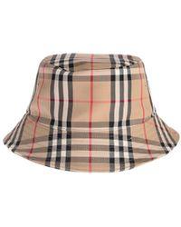 Burberry Panel Bucket Hat - Natural